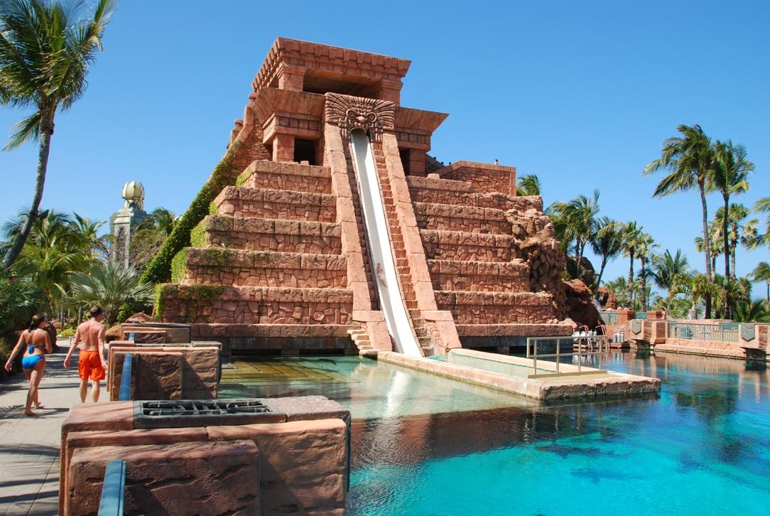 Paradise Island Bahamas Marina Village Mayan Temple