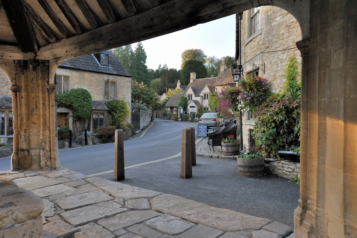 Castle Combe View from the market cross