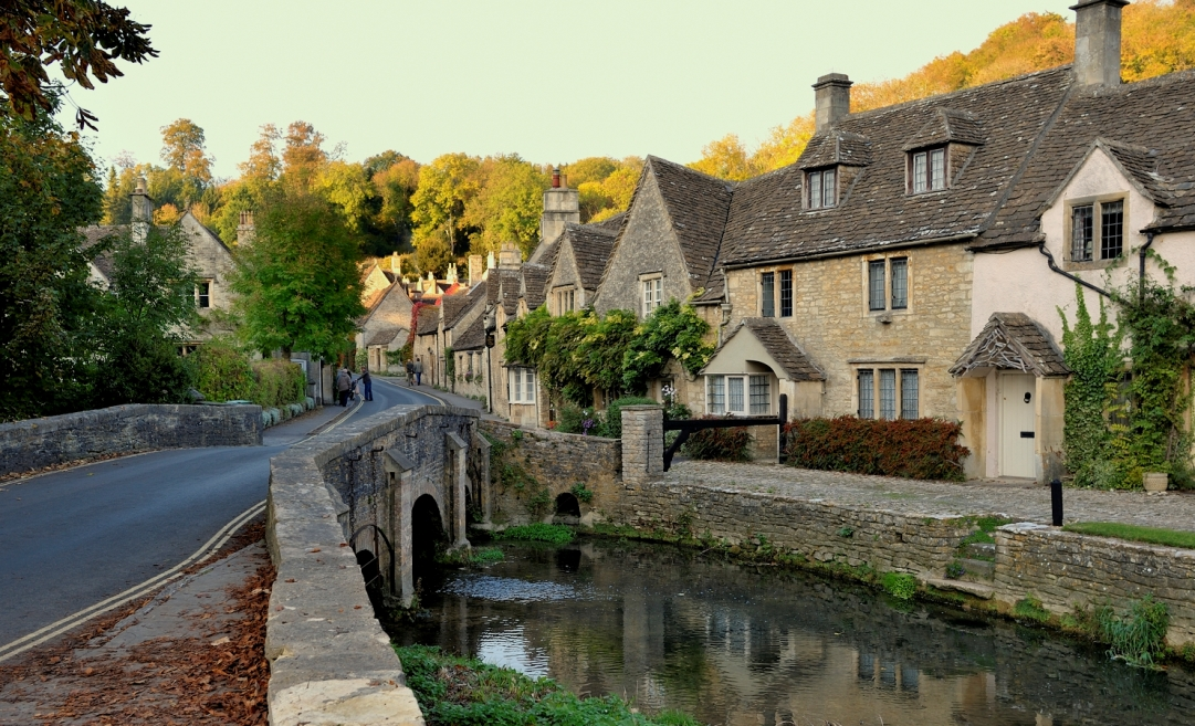 Castle Combe Water Lane Autumn Afternoon